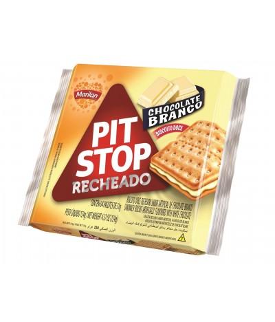 Bolachas Pit Stop Chocolate Branco Marilan