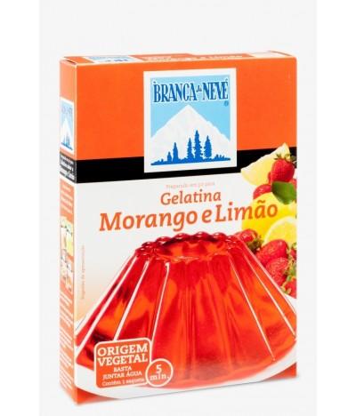 Gelatina Morango-Limão Branca de Neve