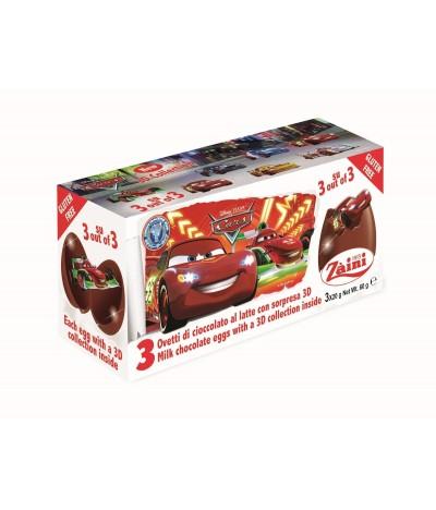 Ovos de Chocolate de Leite Disney Cars2  Tripack