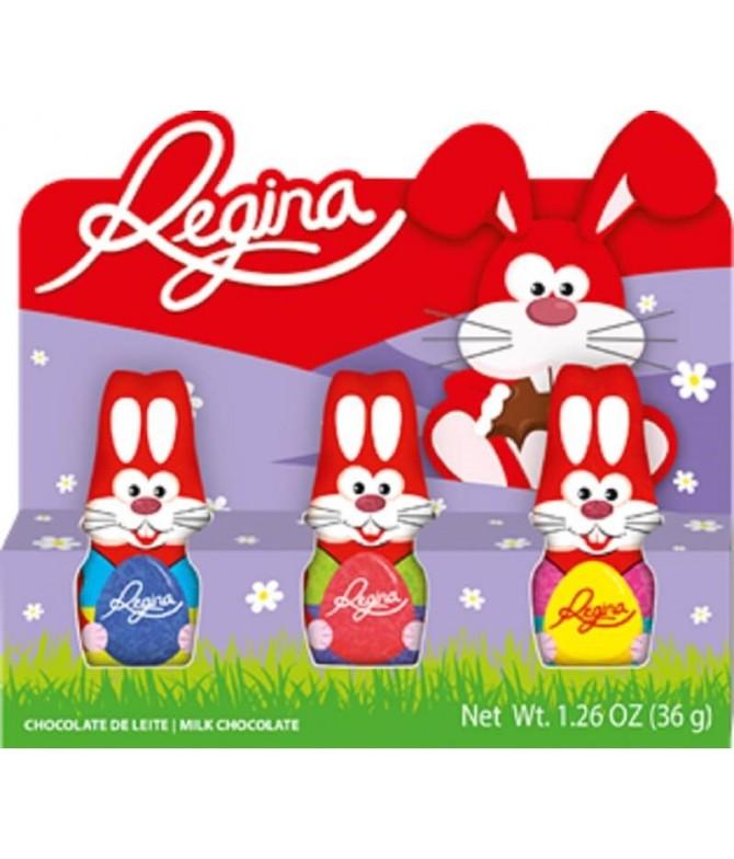 Regina Coelhinho Chocolate Leite 3x12gr