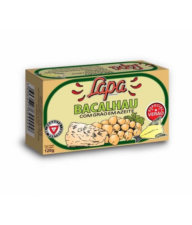 Lapa Bacalhau & Grão em Azeite 120gr