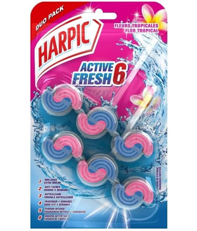 Harpic Active Fresh Flores Tropicales Duo T