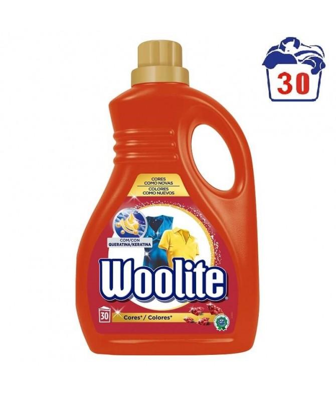 Woolite Detergente Roupa Líquido Cores 30un