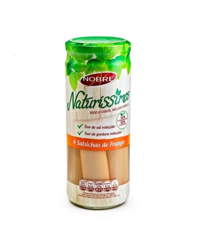 Nobre Naturíssimos Salsichas Frango 4un