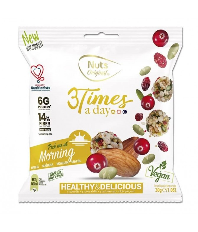 3 Times a Day Morning Frutos Secos 30gr