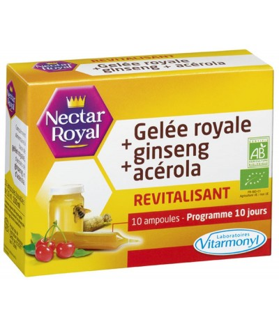 Geleia Real + Gingseng + Acerola Nectar Royal 10 un