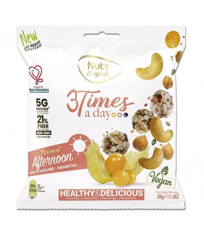 3 Times a Day Afternoon Frutos Secos 30gr