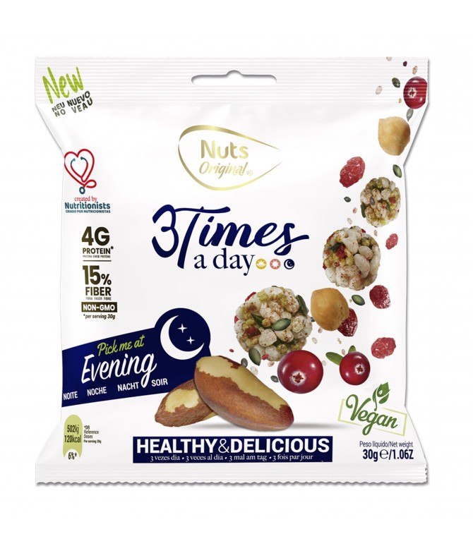 3 Times a Day Evening Frutos Secos 30gr