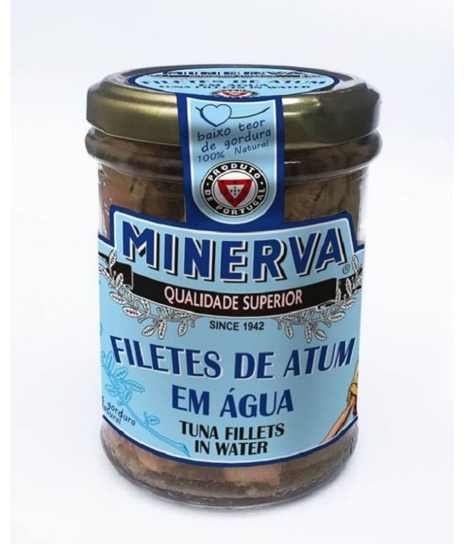 Minerva Filetes Atum em Água 190gr