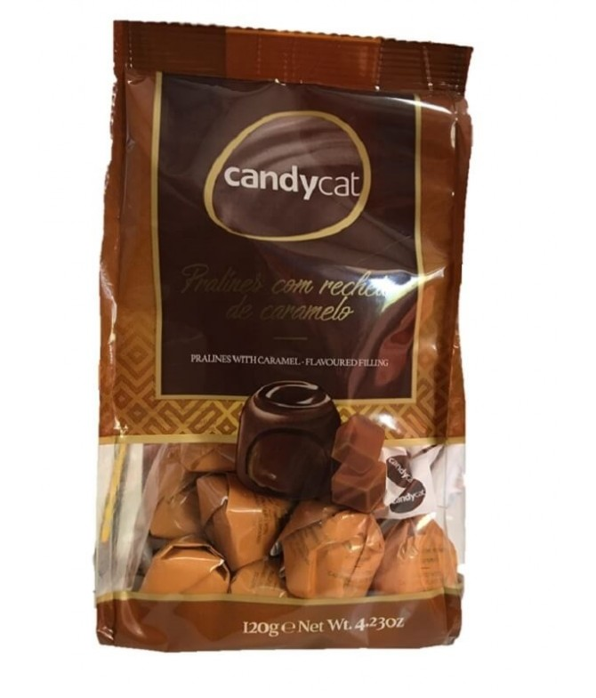 Candycat Praliné Relleno Caramelo 120gr T