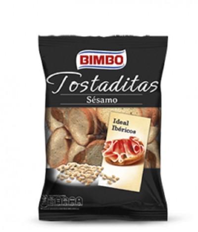 Mini Tostas Tostaditas de Sésamo 100 gr Bimbo