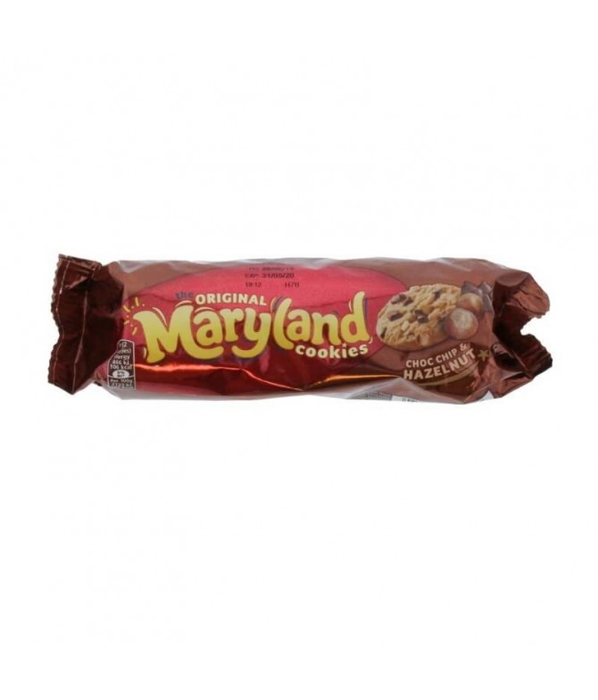 Maryland Galletas Choc Chip Avellanas 136gr T