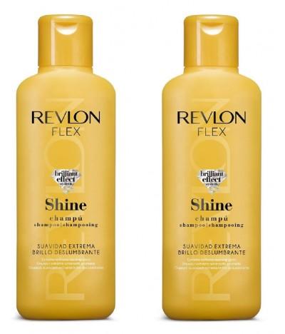PACK 2 Revlon Champú Flex Shine 400ml T