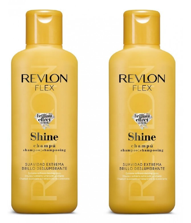 PACK 2 Revlon Champú Flex Shine 400ml T