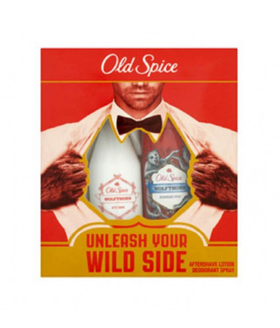 Old Spice Coffret Deo & Aftershave Wolfthorn 150ml+100ml T