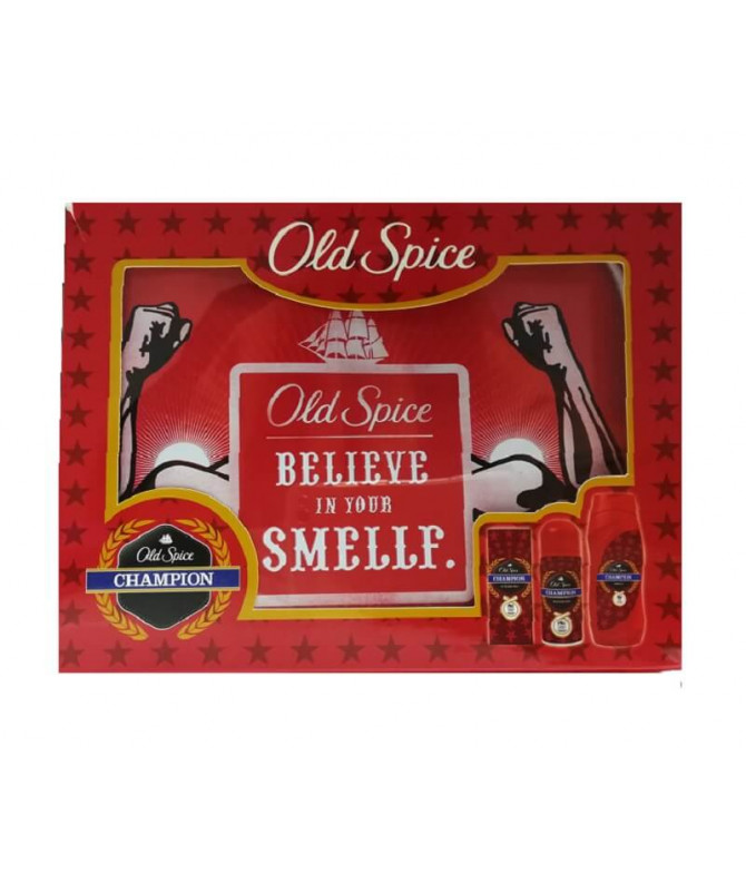 Old Spice Coffret Gel Banho Deo & Aftershave Champion