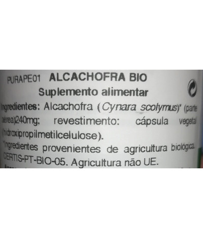 Purasana Alcachofa BIO DIGESTIÓN 120un T