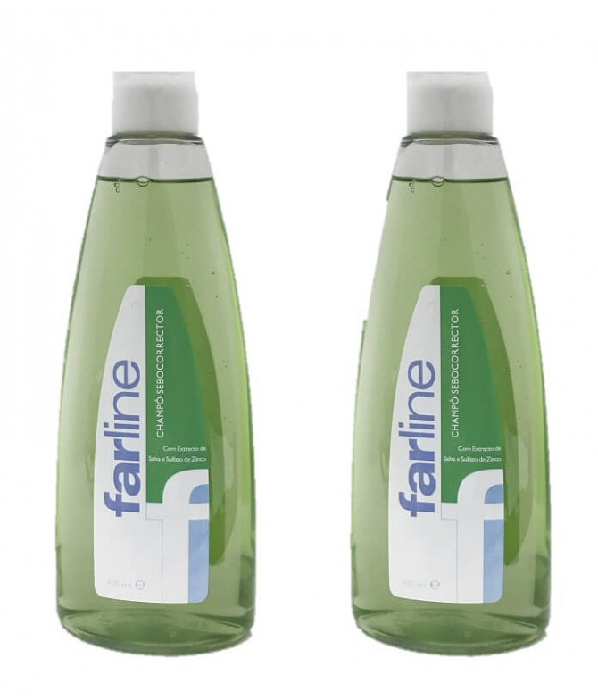 PACK 2 Farline Champú Sebo-Corrector 400ml T