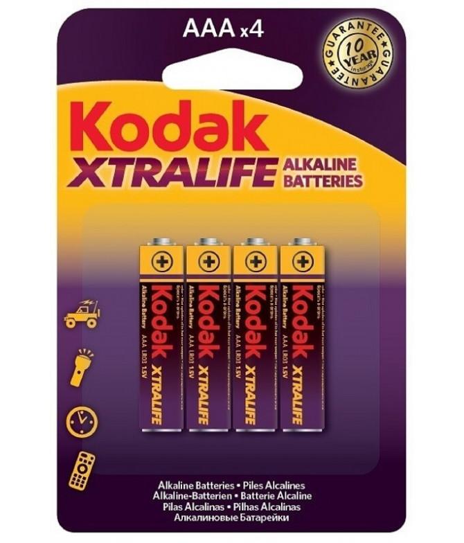 Kodak Pilas XTRALIFE Alcalinas AAA 4un T