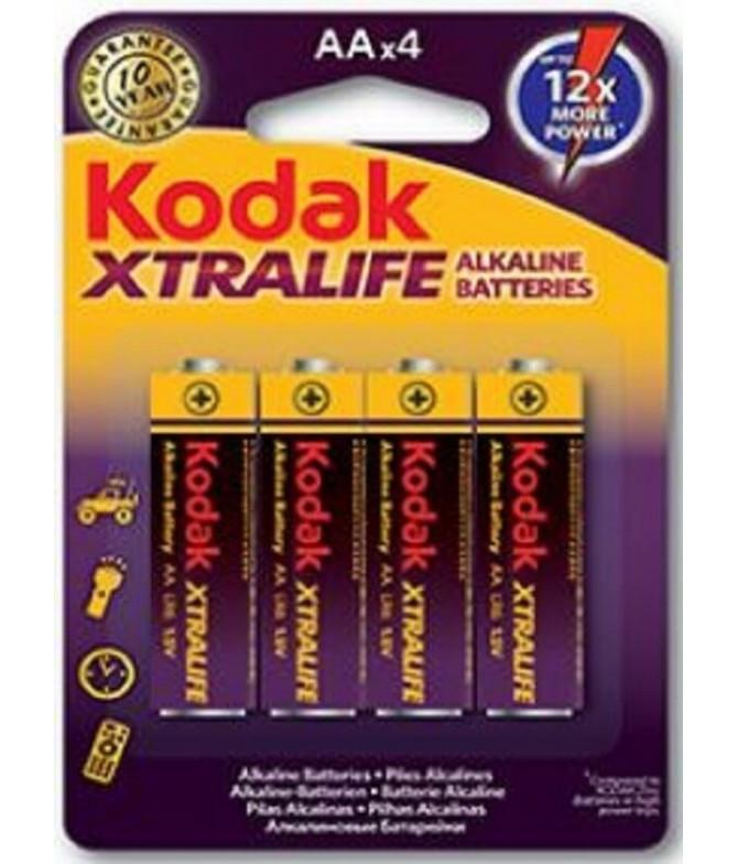 Pilhas Alcalinas XTRALIFE AA 4un Kodak