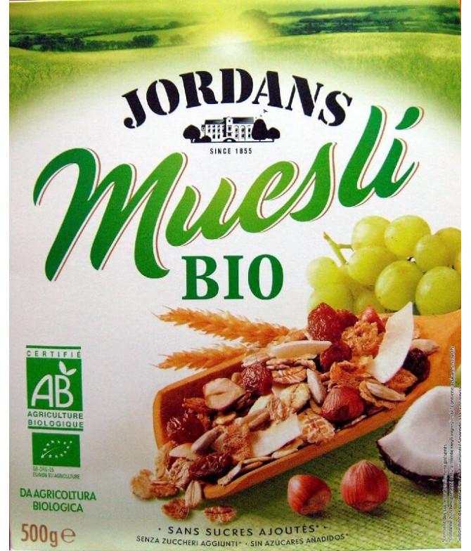 Jordans Muesli Frutas & Frutos Secos BIO 500gr