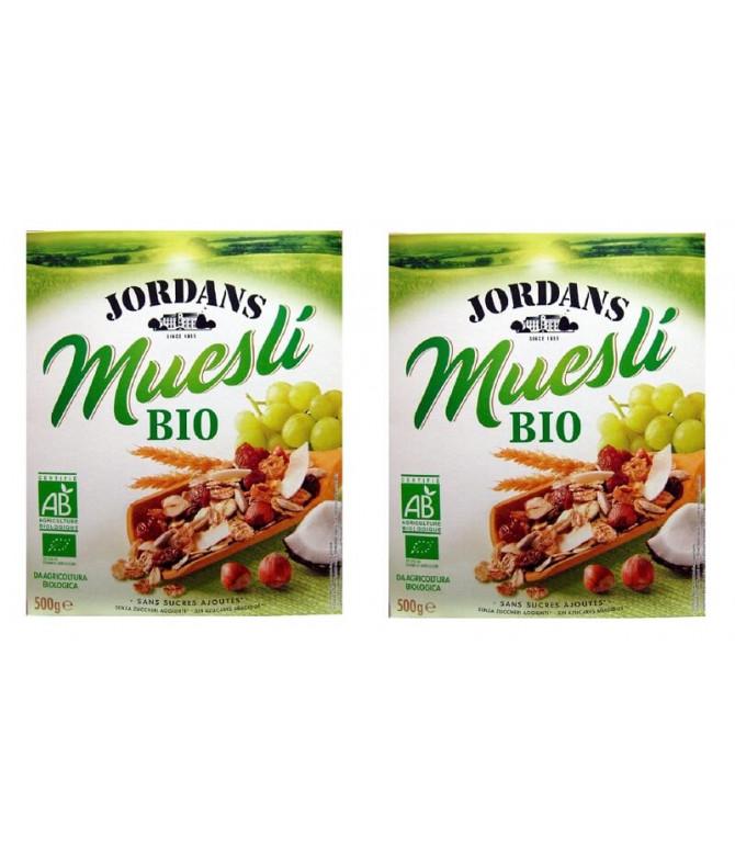 PACK 2 Jordans Muesli Frutas & Frutos Secos BIO 500gr