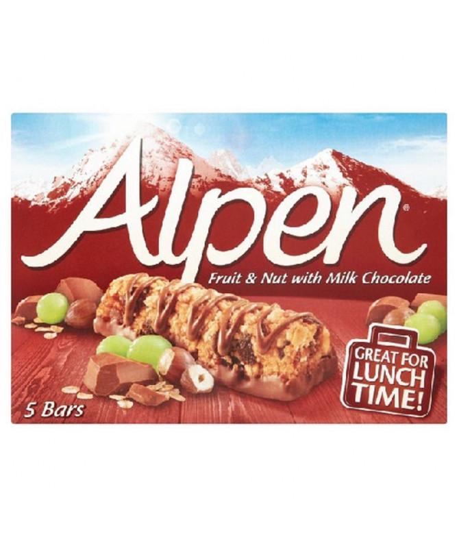 Alpen Barritas Fruta Frutos Secos & Choc 145gr T