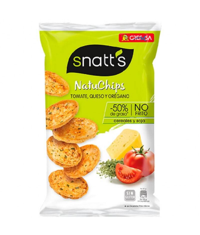 Snatts NatuChips Tomate Queso & Orégano 65gr T