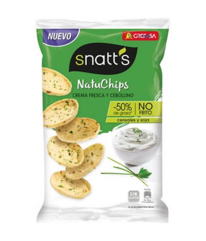 Snatts NatuChips Crème Fraîche & Cebolinho 65gr