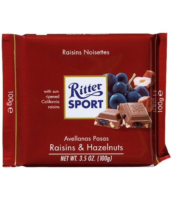 Ritter Sport Passas & Avelãs 100gr