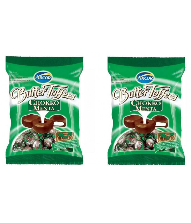PACK 2 Butter Toffees Chocolate & Menta 90gr