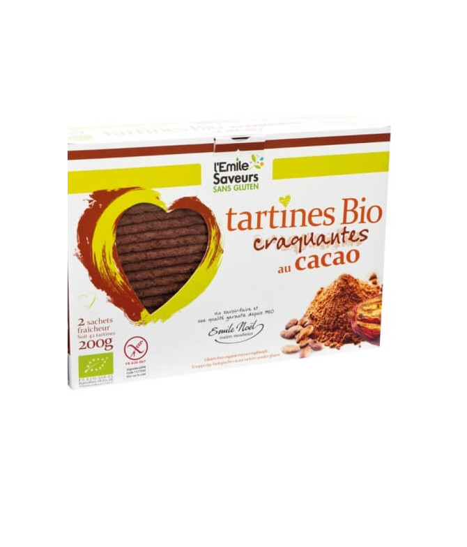 L'Emile Saveurs Tartines Cacao BIO 200gr T