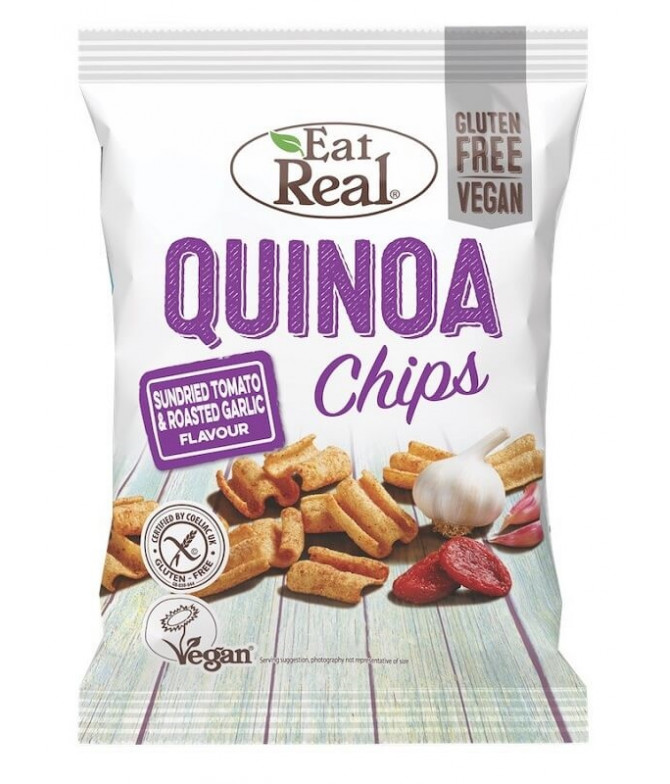 Eat Real Chips Quinoa Tomate Ajo 22gr T