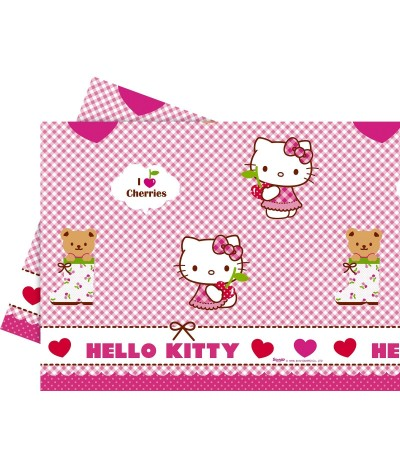 Mantel Hello Kittty Hearts 120 x 180 cm