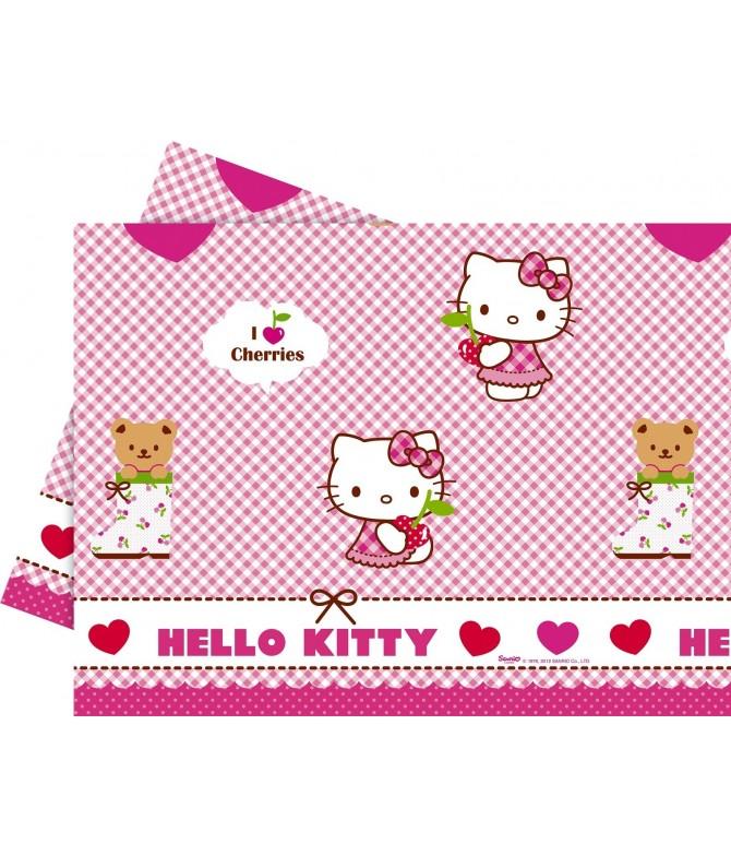 Mantel Hello Kittty Hearts 120 x 180 cm