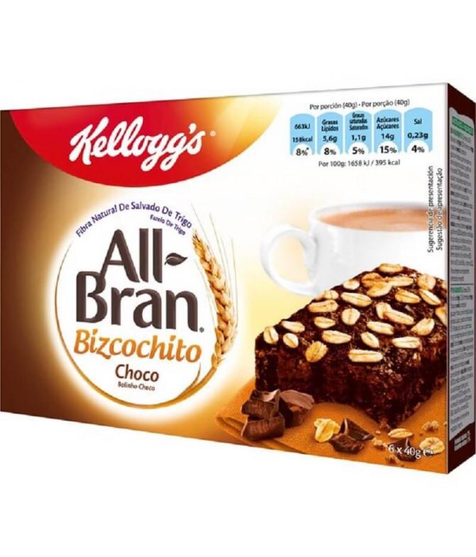 Kelloggs All-Bran Bolinho Chocolate 6un