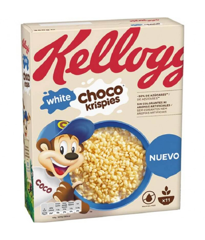Kelloggs Choco Krispies White Cereales 350gr T