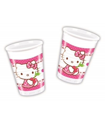 Copos Hello Kitty Hearts 200 ml - 8 un