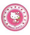 Pratos Hello Kitty Hearts 23 cm - 8 un