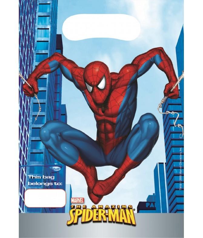 Bolsas Aniversário Homem Aranha 8 un