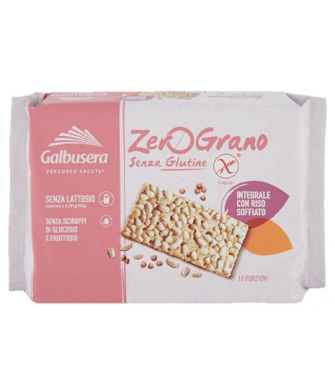 Galbusera ZeroGrano Cracker Integral Arroz 360gr T