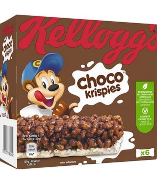 Kelloggs Choco Krispies Barrita Cereais 6un