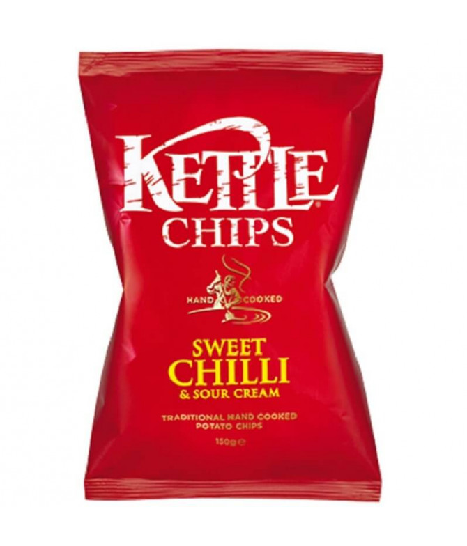 Kettle Chips Sweet Chilli & Sour Cream 150gr