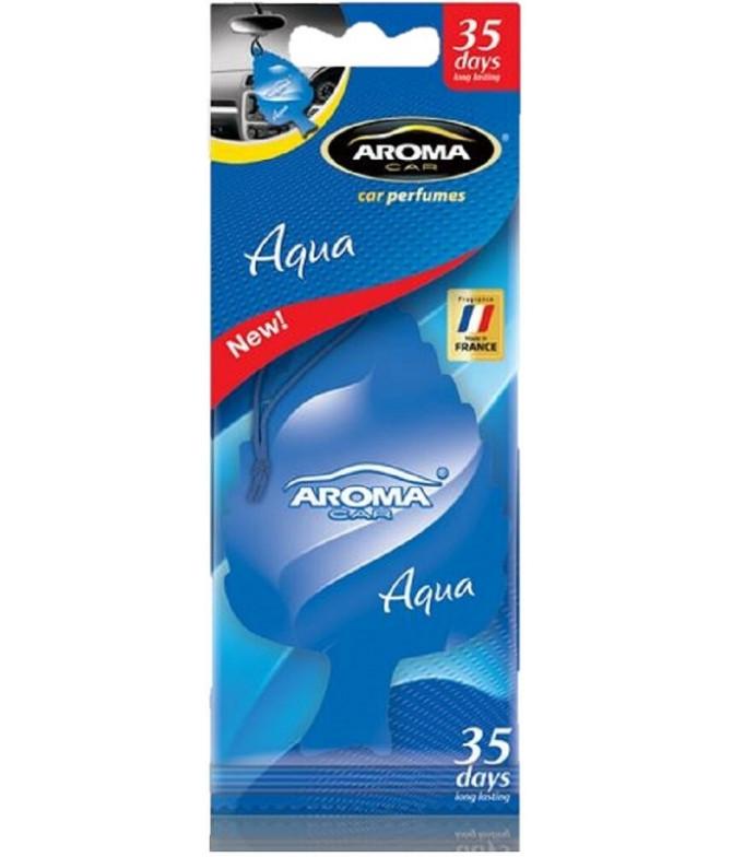 Aroma Car Ambientador Auto Leaf Aqua 1un T