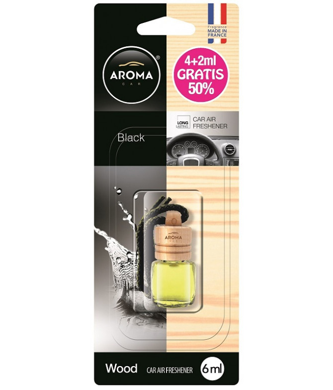 Aroma Car Ambientador Auto WOOD Black 4ml+2ml