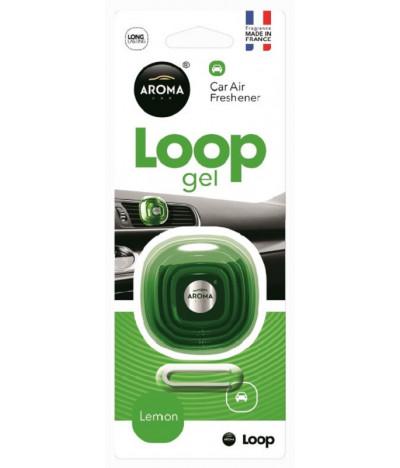 Aroma Car Ambientador Auto Loop Gel Lemon 1un