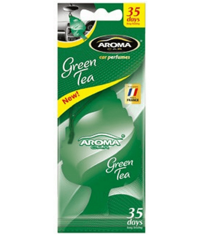 Aroma Car Ambientador Auto Leaf Green Tea 1un T