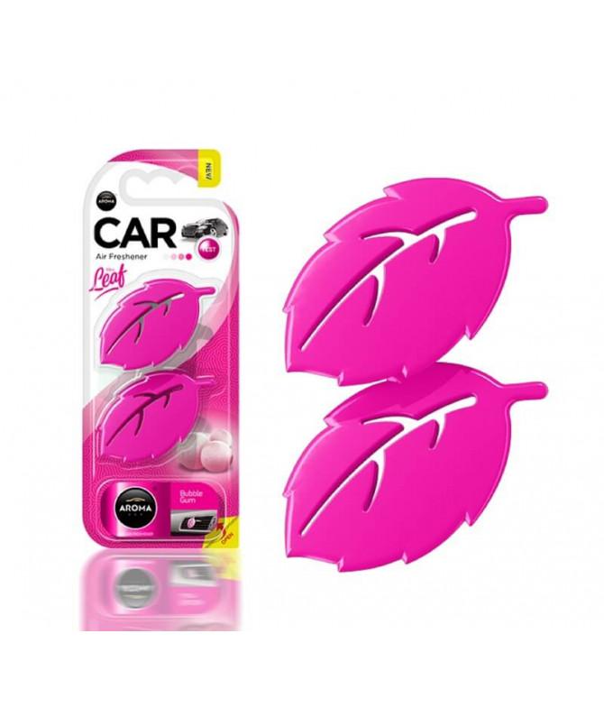 Aroma Car Ambientador Auto Leaf Bubble Gum 2un T