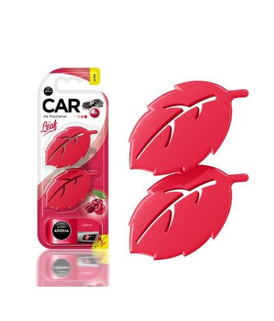 Aroma Car Ambientador Auto Leaf Cherry 2un T