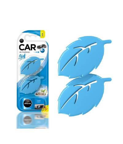 Aroma Car Ambientador Auto Leaf Fresh Linen 2un